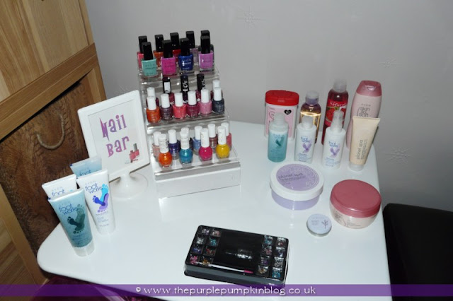 At Home Spa & Nail Bar at The Purple Pumpkin Blog