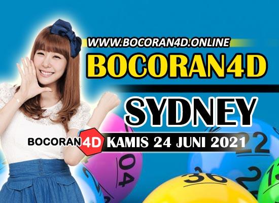 Bocoran Togel 4D Sydney 24 Juni 2021