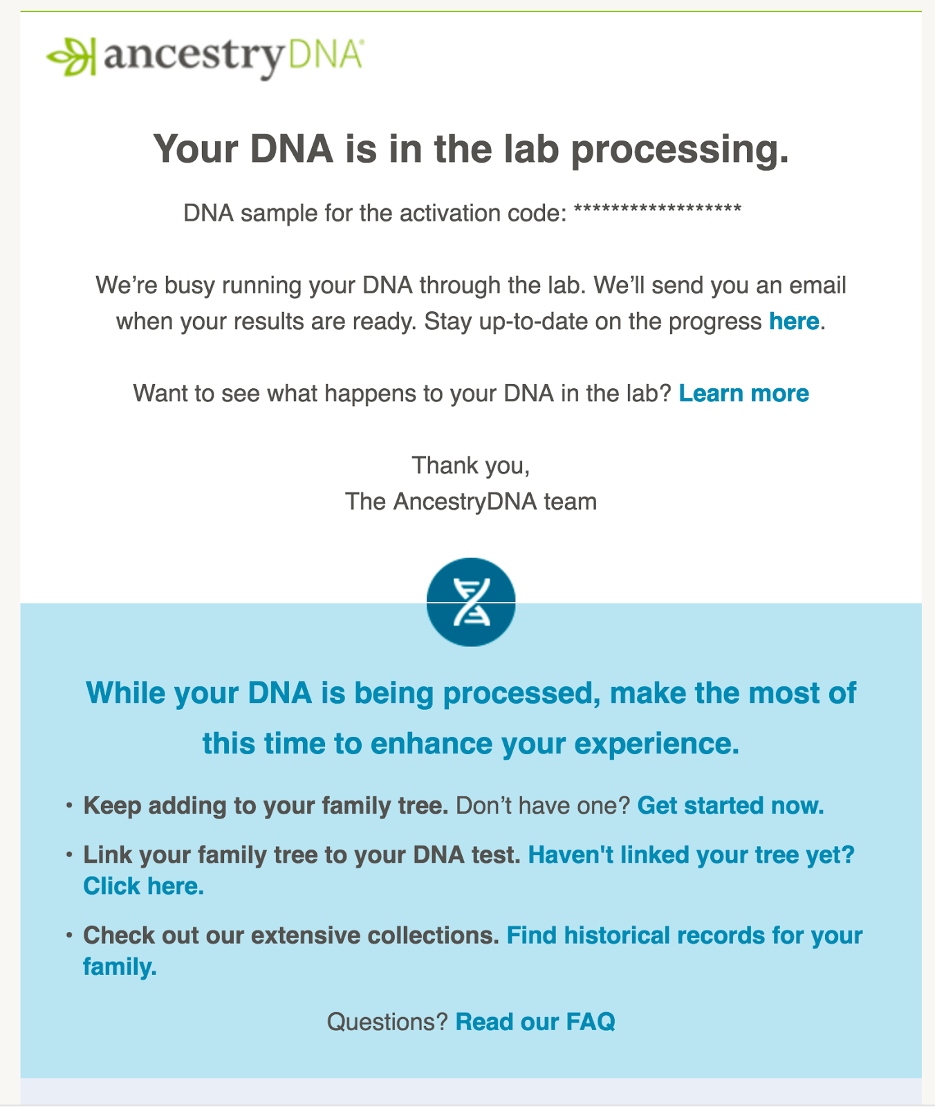 dna report Please check the addressmost of the mistakes made using this service result from a misspelled or misformatted address ensure your address exists by using google maps or zillow to find it, then copy the way it is formatted there to this form.