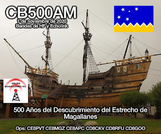 CB500AM, 500 años del Descubrimiento del Estrecho de Magallanes