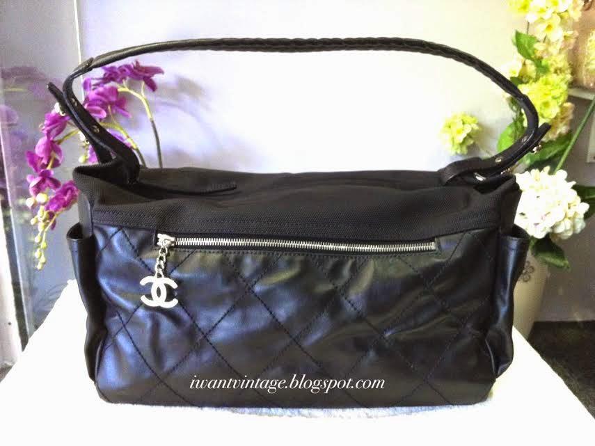 056b6875a891 I Want Vintage   Vintage Designer Handbags: Chanel Quilted Coated ...