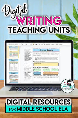 Digital Teaching Writing Units for Middle School ELA
