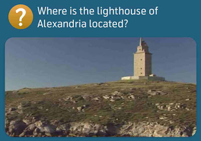 Where is the lighthouse of Alexandria located?