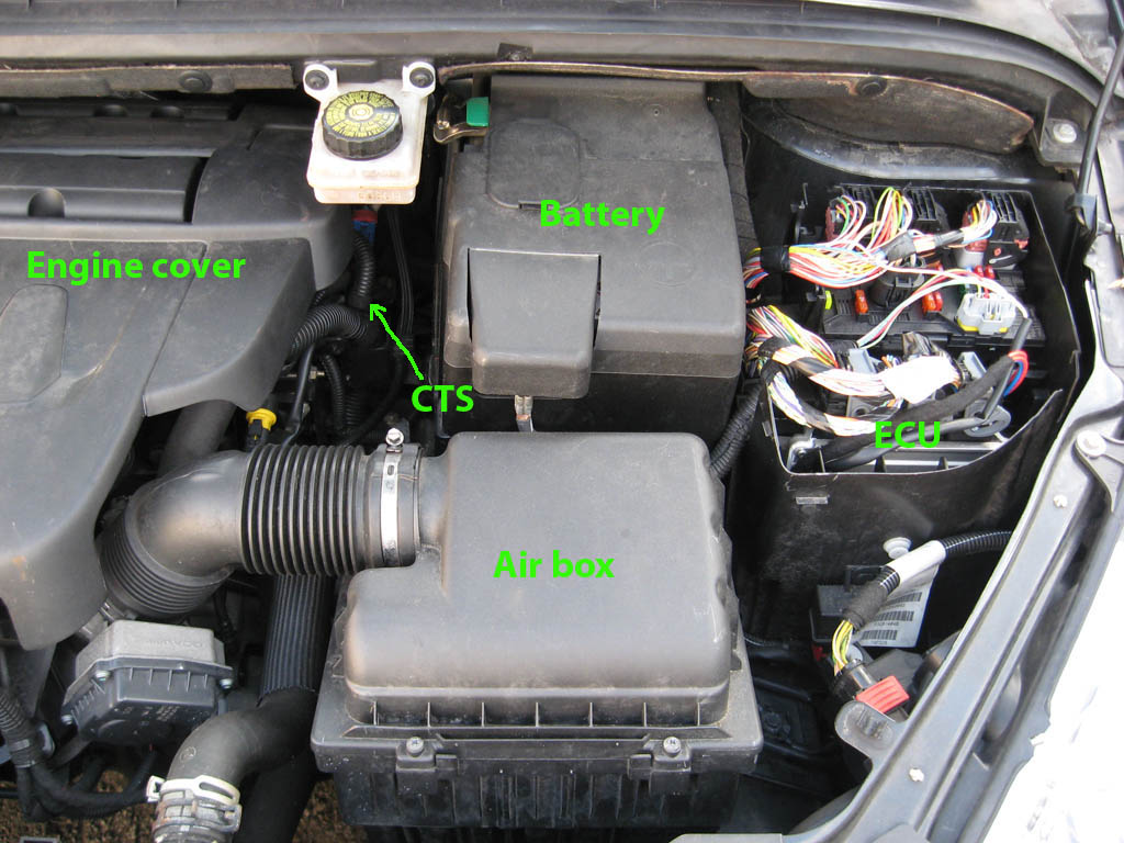 Fig.1 - Layout of the 307cc 2.0L engine