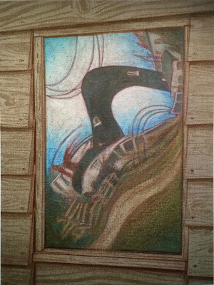 large oil painting, Dungeness art, Paddy Hamilton, Dungeness beach, fine art,