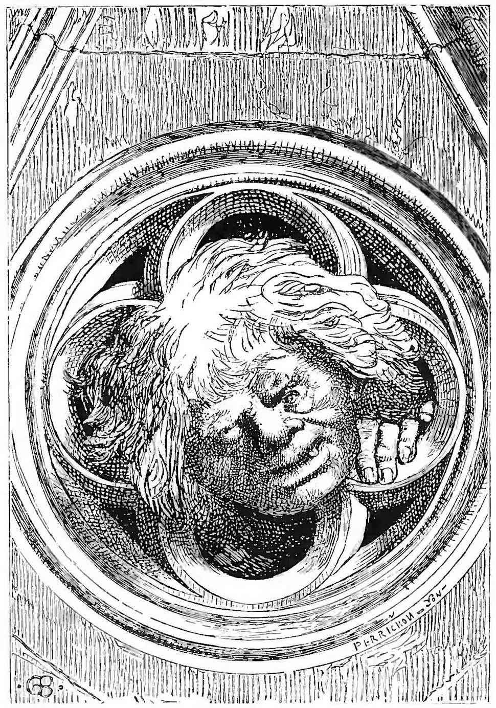 an illustration from Victor Hugo's Hunchback of Notre Dame