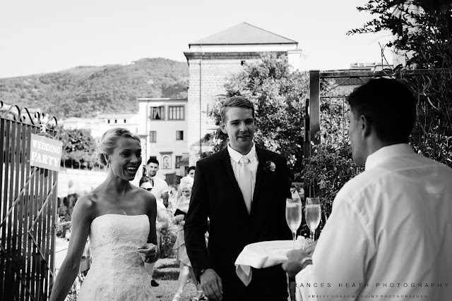 Wedding reception in Sorrento