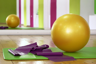 Exercise with gym ball