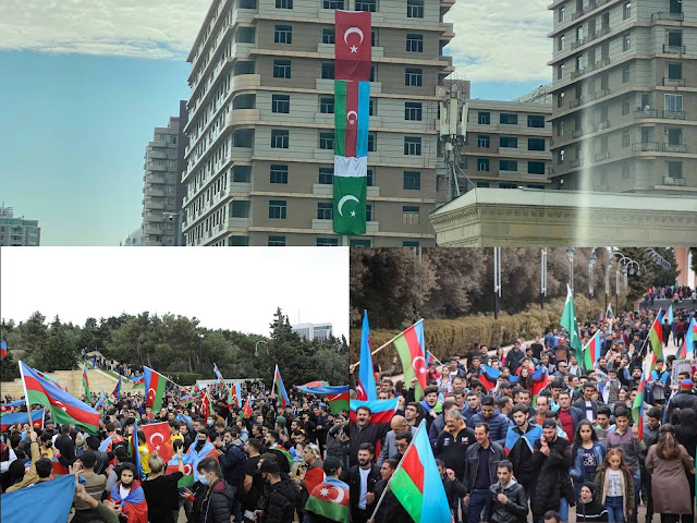 Azerbaijan celebration after victory