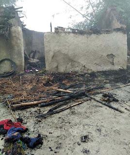 Jaunpur : मड़हे में लगी आग से सब स्वाहा, बाल-बाल बचा युवक