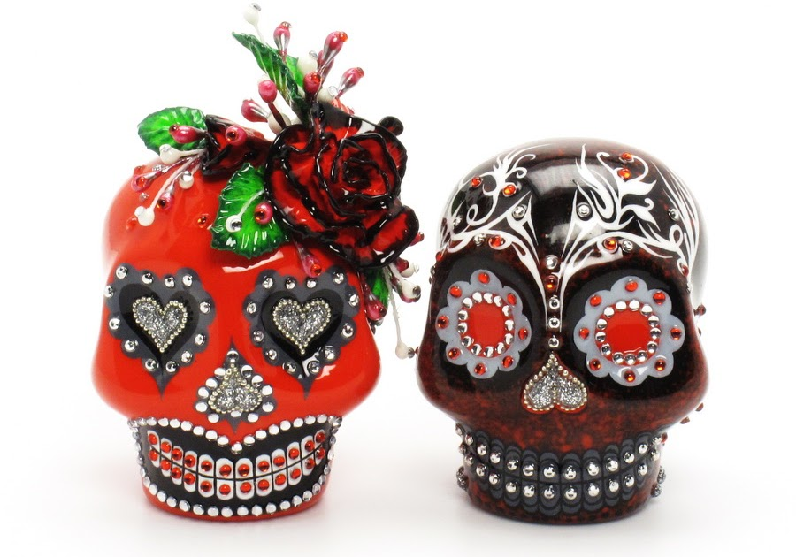 Day Of The Dead Wedding Gifts: Skull Wedding Cake Toppers: Day Of The Dead Skull Lover