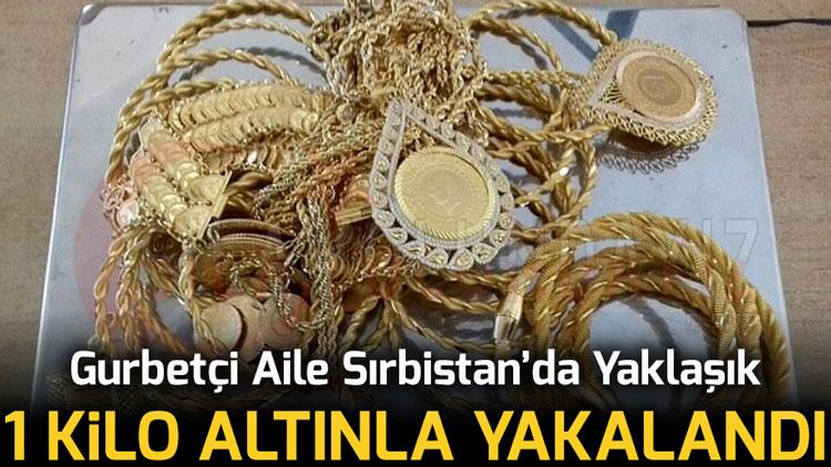 Gurbetçi Aile Sırbistan'da Yaklaşık 1 Kilo Altınla Yakalandı