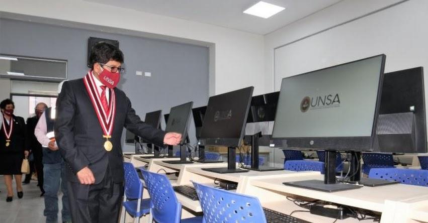 UNSA: Inauguran moderno edificio de laboratorios de Matemática en la Universidad Nacional de San Agustín de Arequipa