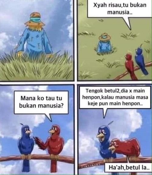 Dialog burung itu bukan manusia