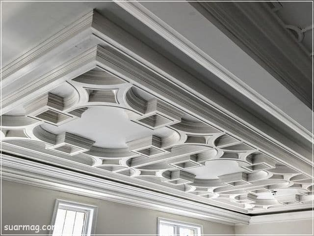 ديكورات جبس اسقف راقيه كلاسيك 5   Classic Gypsum Ceiling 5