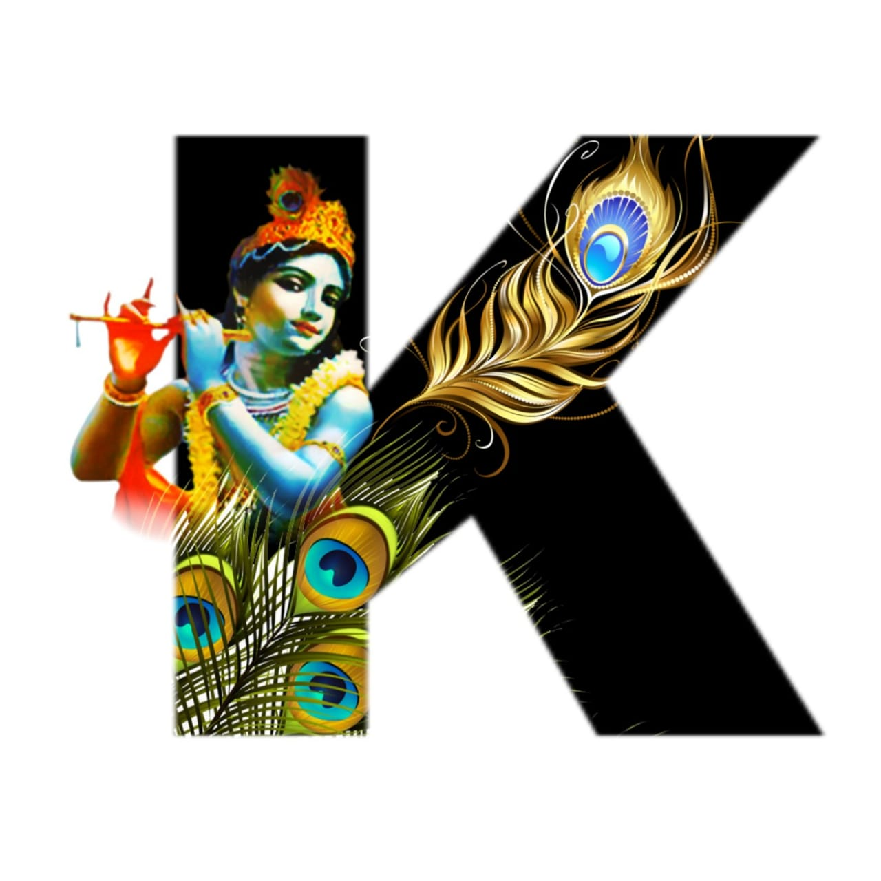 shree krishna alphabet k images