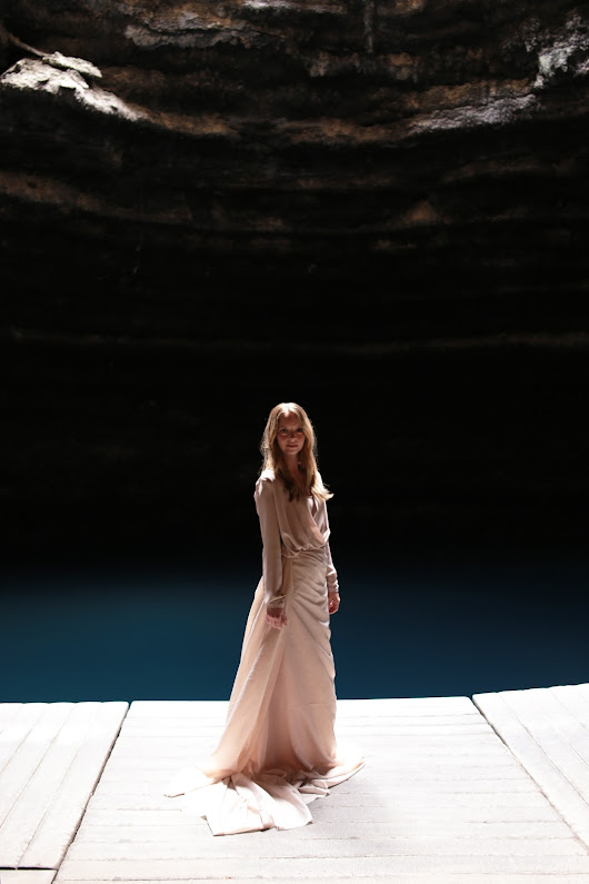 Underwater Gowns - The Crater Midway, Utah ~ Thread Ethic | Modest Fashion