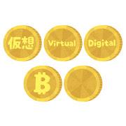 いろいろな仮想通貨のイラスト