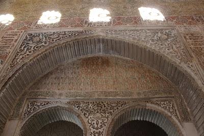 Atauriques en el interior del Alcázar del Genil. Granada