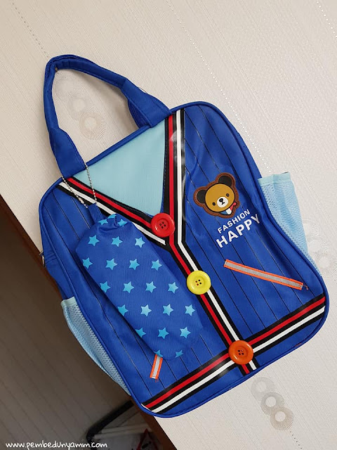 karikatür ayı sırt çantası