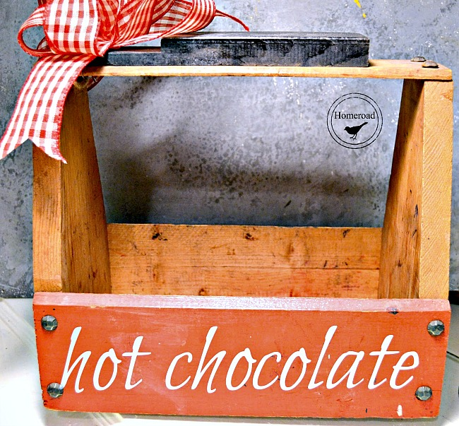 DIY Portable hot cocoa tote for Christmas gifts