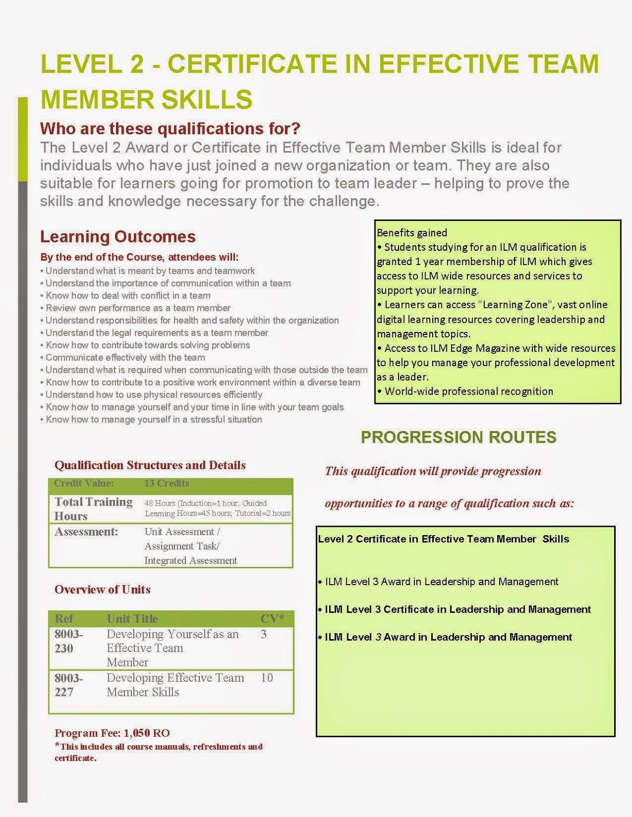 ilm leadership and management level 3