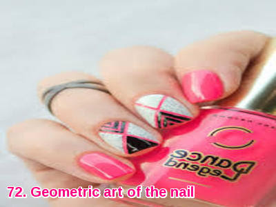 Geometric art of the nail