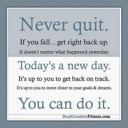 Never Quit If You Fall Get Right Back Up It Doesnt Matter What