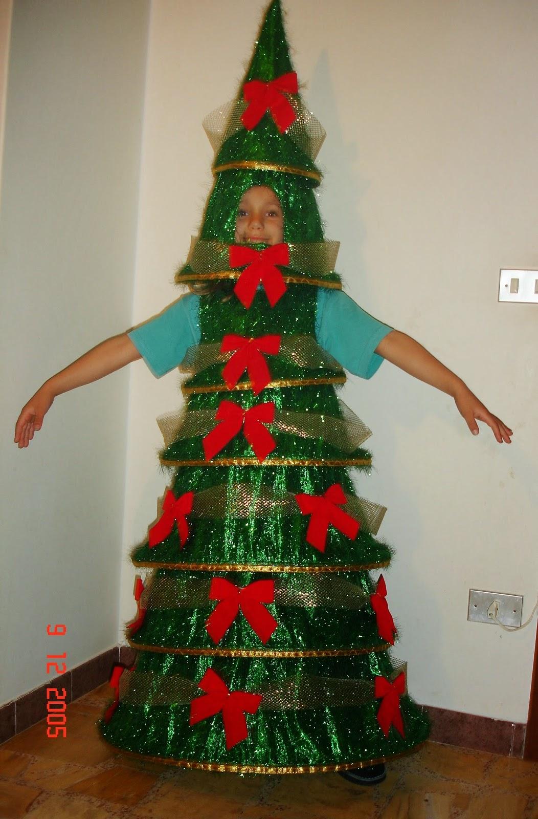 O obradoiro de klor disfraz de rbol de navidad - Disfraz nino navidad ...