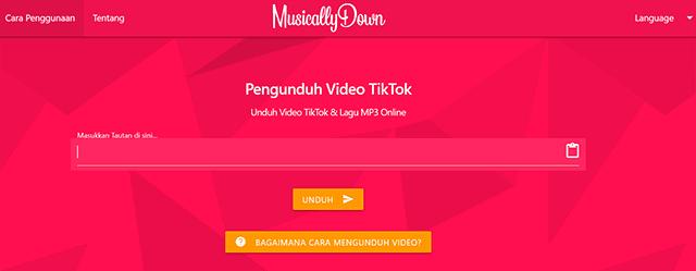 Cara Download Video TikTok Tanpa Aplikasi Secara Online MusicallyDown