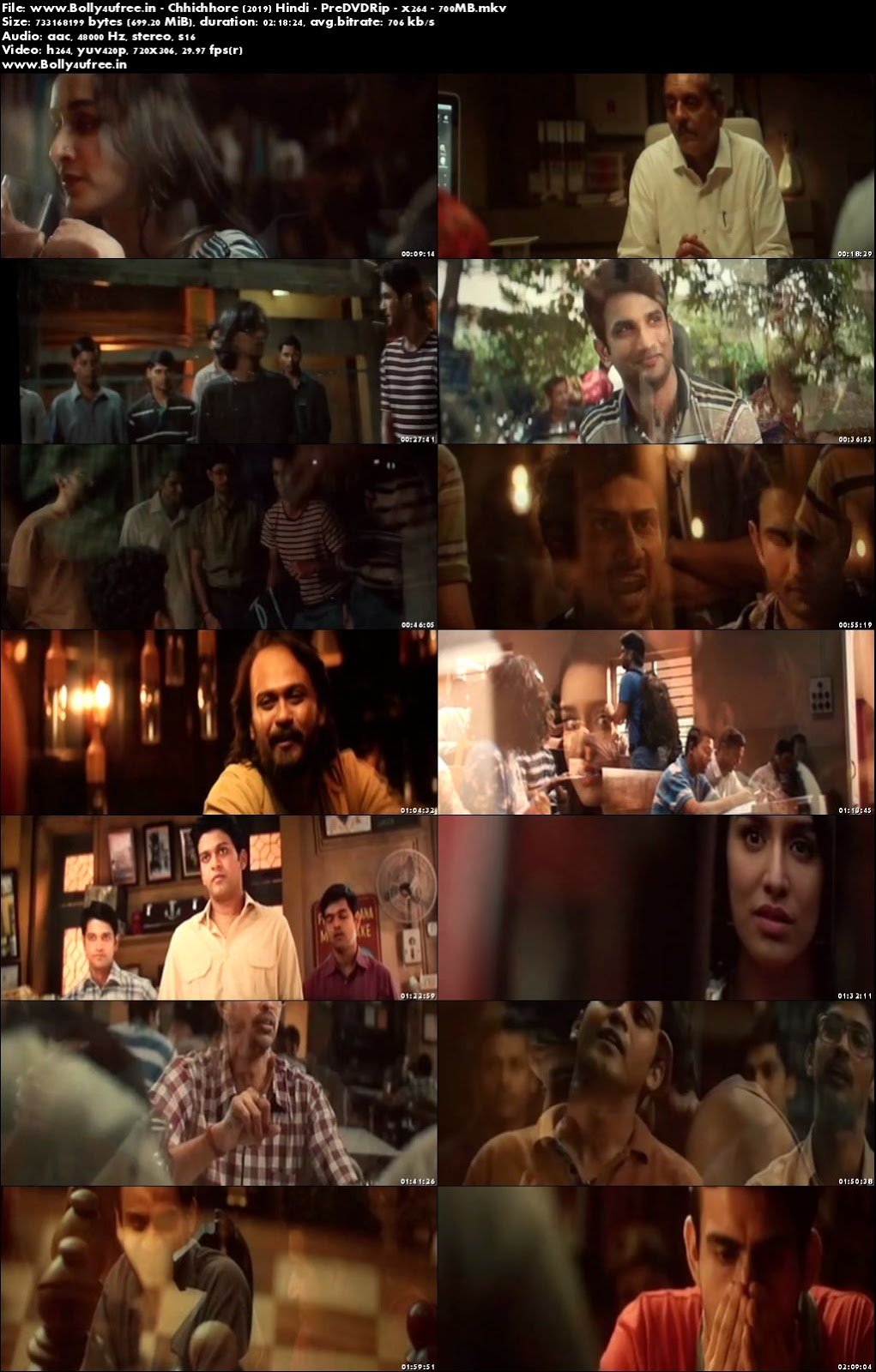 Chhichhore 2019 Full Hindi Movie Download 400MB 480p Pre DVDRip