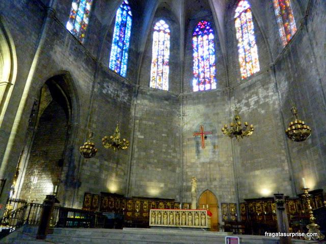 Altar-mor da Igreja de Santa Maria del Pi, em Barcelona