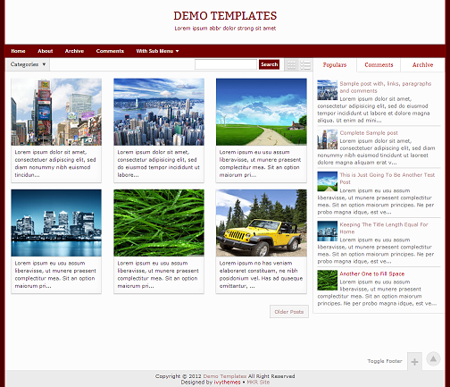 Gremble Red Blogger Template