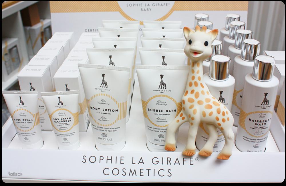 cosmétique bio et naturelle  Sophie la girafe baby