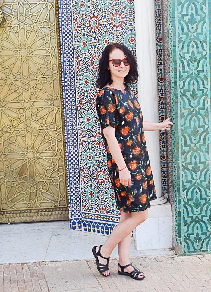 Jak powstają marokańskie mozaiki? Sukienka uszyta z wykroju Burda 04/2016 model 115