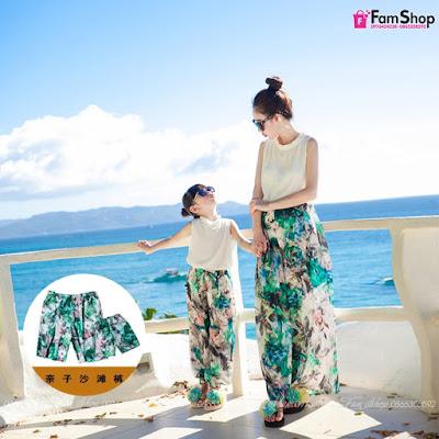Váy maxi mẹ và bé gái M432