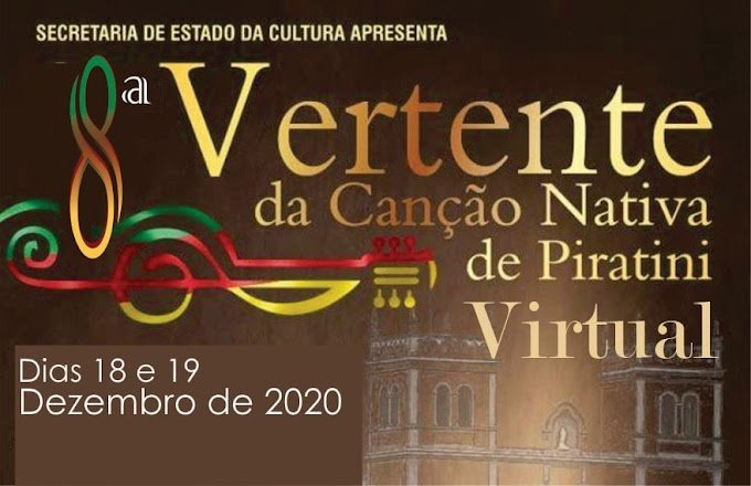 Músicas classificadas para a 8ª Vertente da Canção Nativa de Piratini
