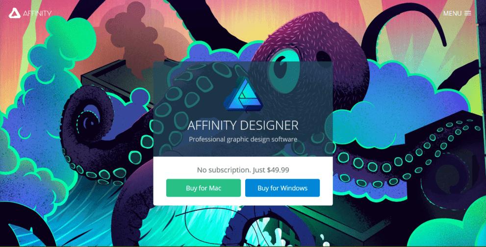 Review ulasan lengkap Affinity Designer - Affinity Screenshoot Harga