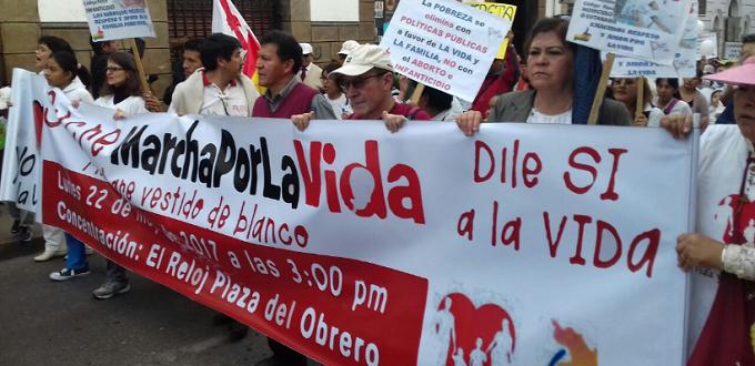Plataformas ciudadanas se manifestaron contra el aborto  en Bolivia