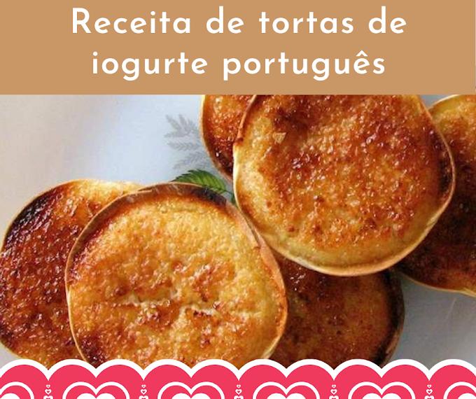 Receita de tortas de iogurte português
