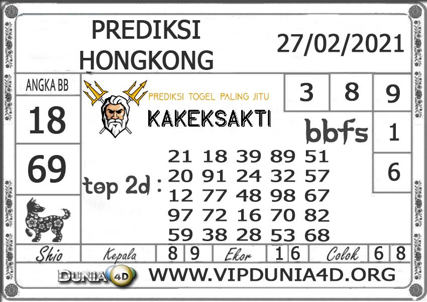 Prediksi Togel HONGKONG DUNIA4D 27 FEBRUARI 2021