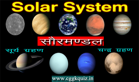 its earth and space gk quiz hindi : solar system, lunar & solar eclipses, mars, galaxy science gk related questions and answers quiz etc.