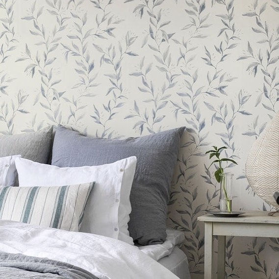 Stiker Wallpaper Dinding Kamar Tidur Elegan