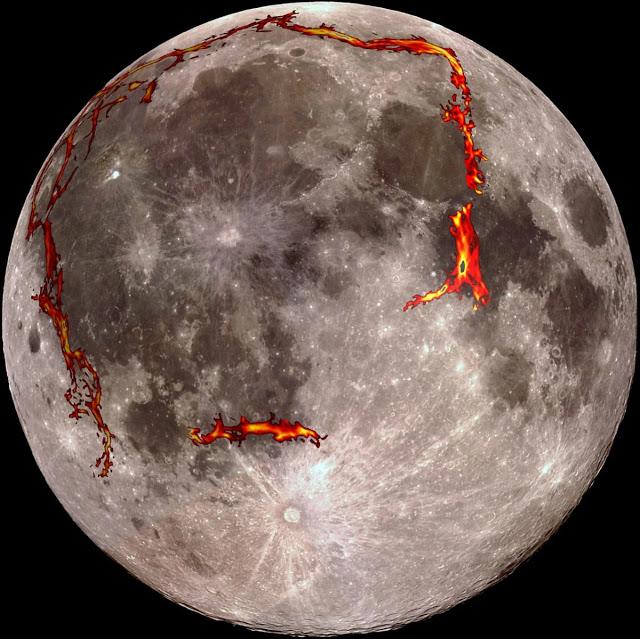 Новое открытие: «Чандраян-1» зафиксировал на поверхности Луны скопление красных пятен