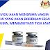 Tiga Fasa ~ Pemberian Vaksin Covid-19 Secara Percuma Untuk Rakyat Malaysia