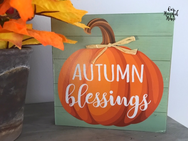 pumpkin autumn blessings wall art
