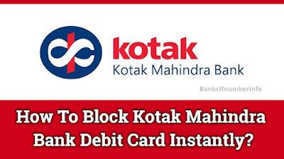 Block Kotak Bank Debit Card
