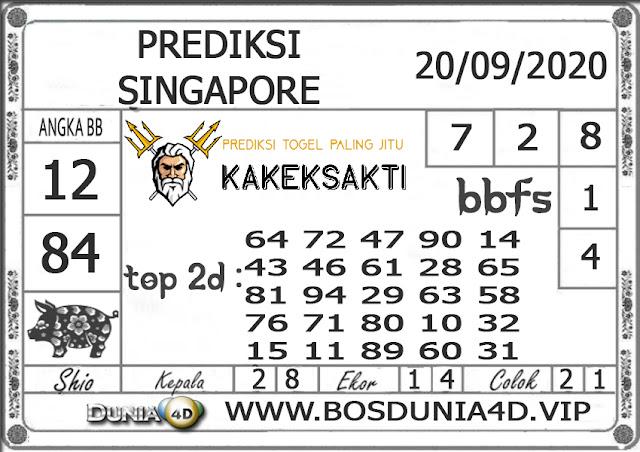 Prediksi Togel SINGAPORE DUNIA4D 20 SEPTEMBER 2020