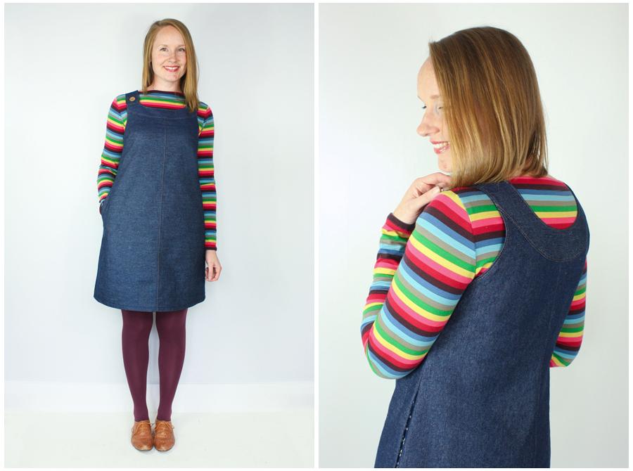 Knitting Pattern Pinafore Dress : Introducing The Ivy Pinafore Dress Sewing Pattern Jennifer Lauren Handmade