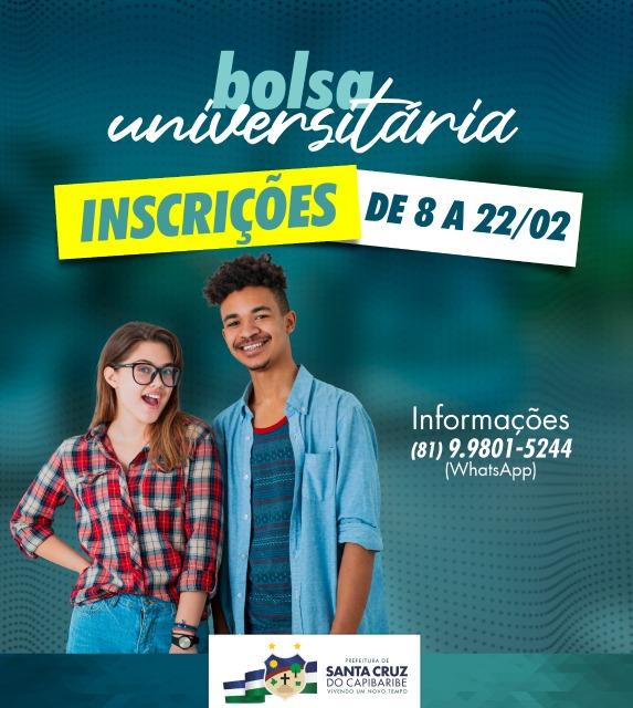 Santa Cruz do Capibaribe divulga o edital do Bolsa Universitária 2021.1